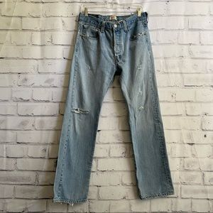 Perfectly distressed original 501 jeans